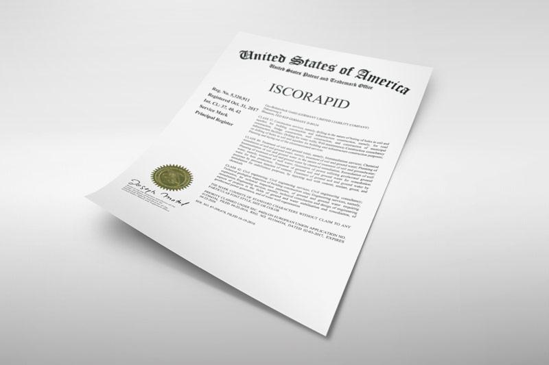 ISCORAPID - Patent USA